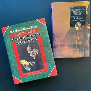 Set of 2 Sherlock Holmes Hardcover Books